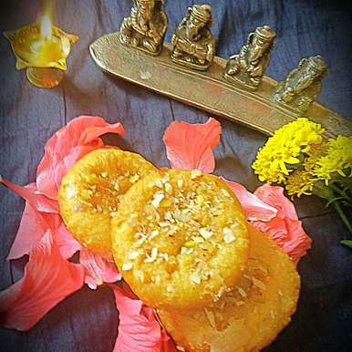 Photo of Sweet khaja by Bhumika Gandhi at BetterButter