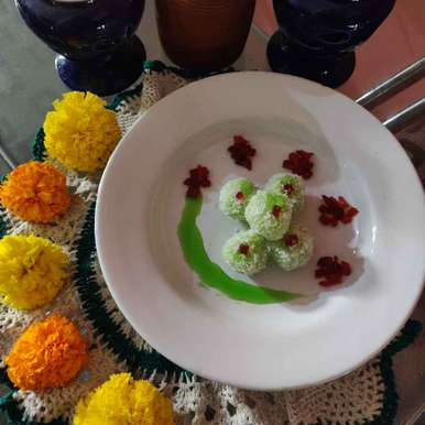 Photo of Khus Coconut Balls by Disha Chavda at BetterButter