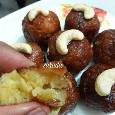 Photo of Leftover corn Gulab jamun by Sarada Shreya at BetterButter