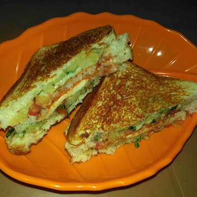 Photo of Three layered potato cheese sandwich (grilled) by Shaoly Das Roy at BetterButter
