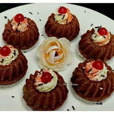 Photo of Red velvat mini bundt cake by Uma Sarkar at BetterButter